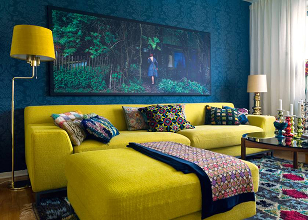 smooth-yellow-sofas-idea-with-joyful-cushions-feat-thin-bases-floor-lamp-and-rectangle-coffee-table